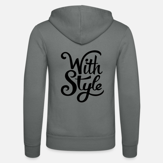 Keep Calm Sweaters & hoodies - With Style! Cool & Trendy Typography Design - Unisex zip hoodie grijs