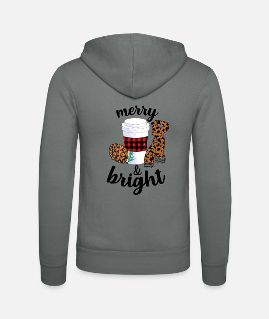 Love Hoodies & Sweatshirts - Merry And Bright - Unisex Zip Hoodie grey