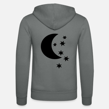 Half Moon half moon and stars - Unisex Zip Hoodie