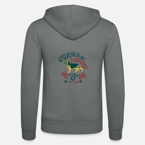 Dog Friend Hoodies & Sweatshirts - Gift German Shepherd German Shepherd - Unisex Zip Hoodie grey