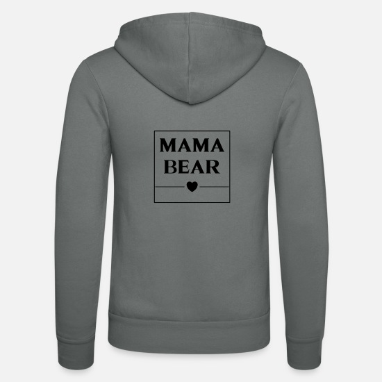 Mother Hoodies & Sweatshirts - Mama Bear box - Unisex Zip Hoodie grey