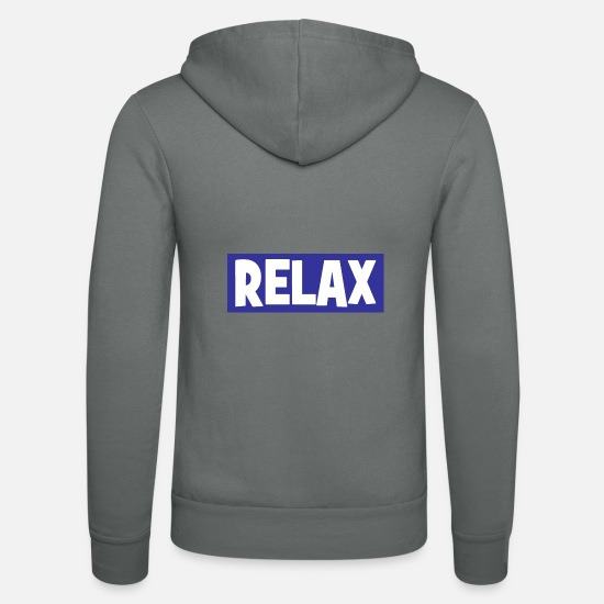 Indie Sweat-shirts - RELAX - relax - relax - chill - chill - Veste à capuche unisexe gris
