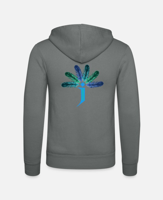 Wing Hoodies & Sweatshirts - 6 springs j - Unisex Zip Hoodie grey