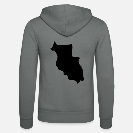Federal Republic Of Germany Hoodies & Sweatshirts - Llichtenberg (Map, Map) - Unisex Zip Hoodie grey