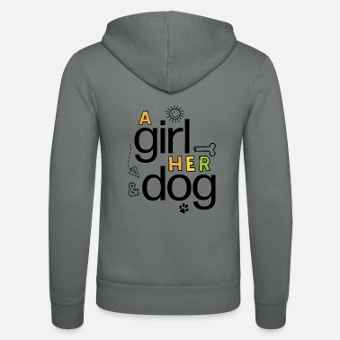 Gifts for women with dogs - Unisex Zip Hoodie