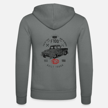 F100 Built Tough, Vintage - Unisex zip hoodie