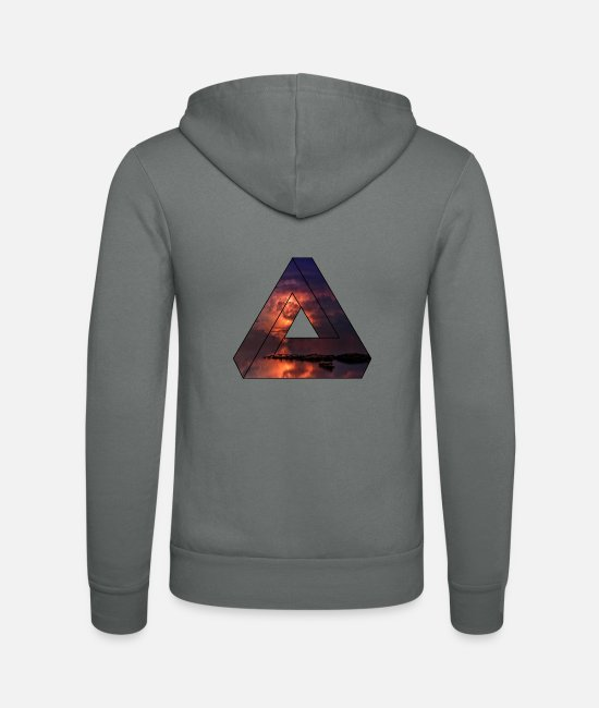 Nature Sweat-shirts - Triangle / cadeau nature - Veste à capuche unisexe gris