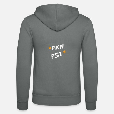 Fkn Fst design by (flower coffee) - Unisex Zip Hoodie