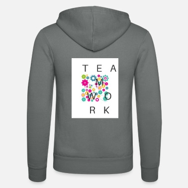 Cheers TEAMWORK with colorful gears - Unisex Zip Hoodie