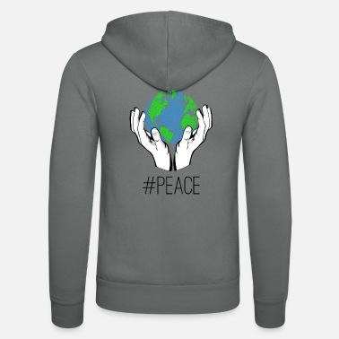 # Peace world peace earth statement hands sign - Unisex zip hoodie