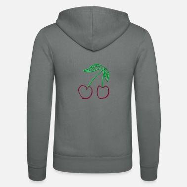 Cherry Cherry - cherries - Unisex Zip Hoodie