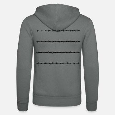 Barbed-wire Barbed Wire - Unisex Hooded Jacket by Bella + Canvas