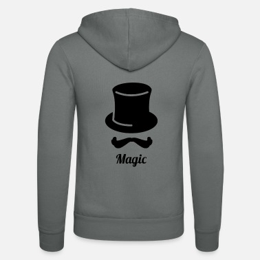 Magic Magic Magic Magician Magic Wizard Magic - Unisex Zip Hoodie