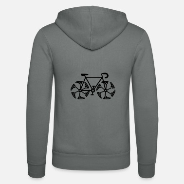 Bicycle shoe - Unisex Zip Hoodie