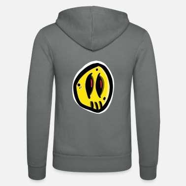 Comic Yellow comic monster - Unisex Kapuzenjacke