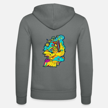 Bird Illustration Character Bird BIRD Illustration Rainbow - Unisex Zip Hoodie