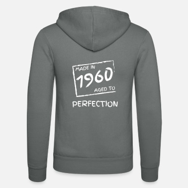 Year Of Birth made in 1960 year of birth anniversary year 60 years - Unisex Zip Hoodie