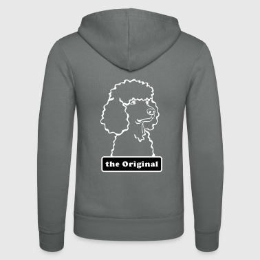 Poodle - the original - curling - poodle - Unisex Hooded Jacket by Bella + Canvas