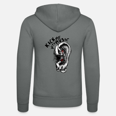 Kick me with Music - Unisex Zip Hoodie