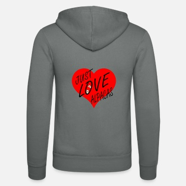 Alpacafan Just love alpacas. - Unisex Zip Hoodie