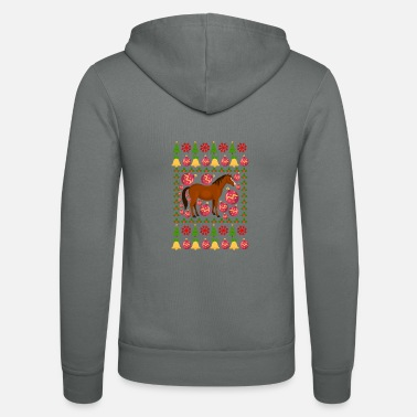 Stall Horse riding Equestrian gift · Winter motive - Unisex Zip Hoodie