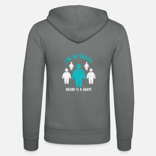 Christmas Present Hoodies & Sweatshirts - Fat man fat - Unisex Zip Hoodie grey