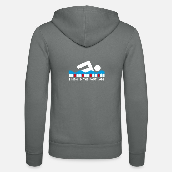 Swimmer Hoodies & Sweatshirts - swim - Unisex Zip Hoodie grey
