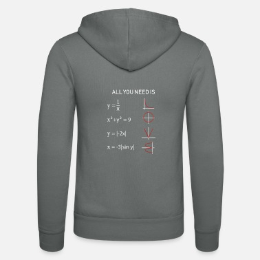 Mathe All you need is Love T Shirt Lehrer Geschenk - Unisex Kapuzenjacke