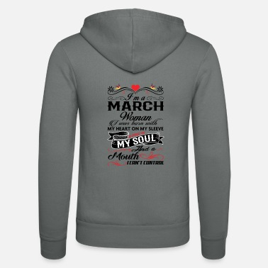 Womans March MARCH WOMAN - Unisex Zip Hoodie