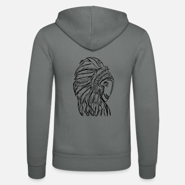 Vintage Indian Head - Unisex Zip Hoodie