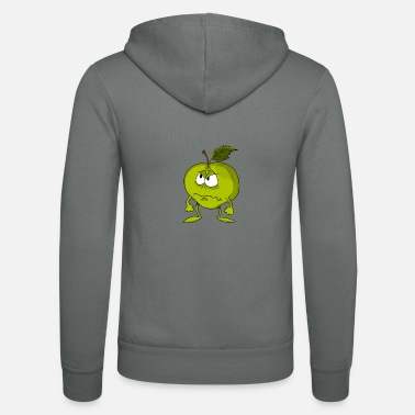 Sour Sour apple - Unisex Hooded Jacket by Bella + Canvas