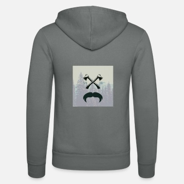Glass Underwear Hipster responsibility beard glasses ax forest - Unisex Zip Hoodie