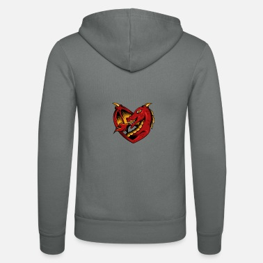Amusing Dragon love - Unisex Zip Hoodie