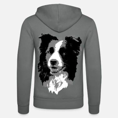Border Collie Border Collie - Unisex Hooded Jacket by Bella + Canvas