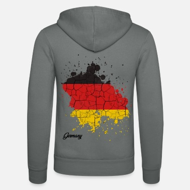 Federal Republic Of Germany Federal Republic of Germany countries outline gift - Unisex Zip Hoodie