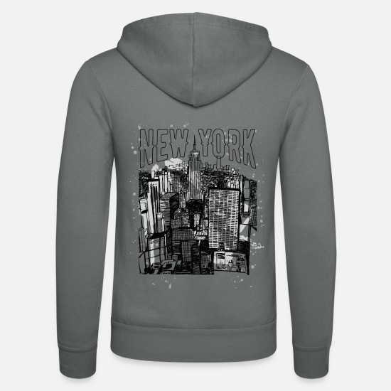 Empire Pullover & Hoodies - New York Empire State Building Retro Souvenir - Unisex Kapuzenjacke Grau