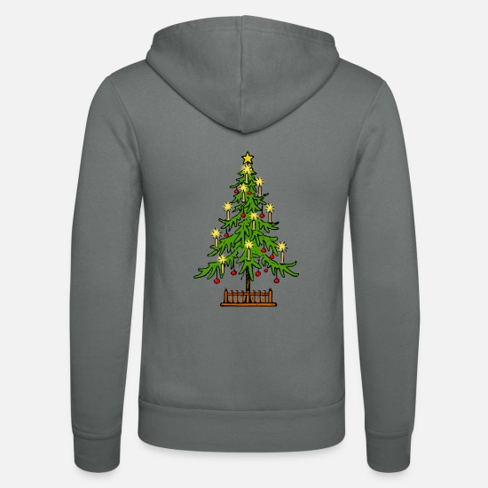 Christmas Carols Hoodies & Sweatshirts - XMAS TREE - Unisex Zip Hoodie grey