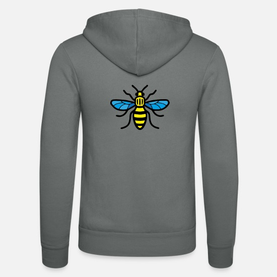 Manchester Bee Hoodies & Sweatshirts - Manchester Bee (Colour) - Unisex Zip Hoodie grey