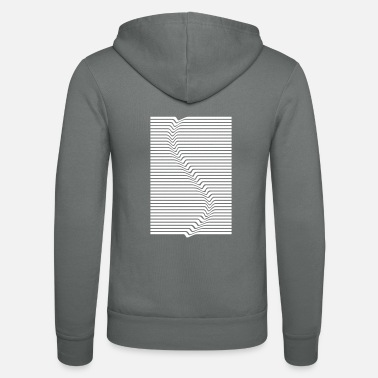 Abstract Abstract lines art surfing in the water - Unisex Zip Hoodie