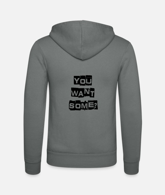 Stag Hoodies & Sweatshirts - You Want Some? - Unisex Zip Hoodie grey