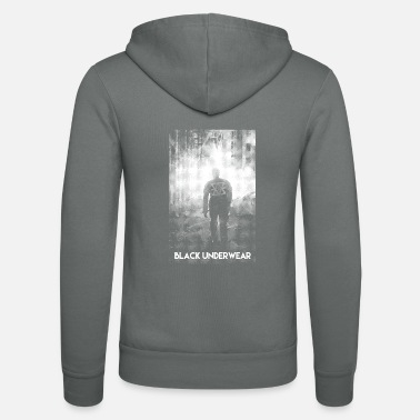 Man Underwear Black Underwear Man in the Dark - Unisex Zip Hoodie