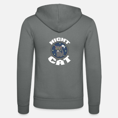 At Night Night Cat - Cat in the Night Night Cat - Unisex Zip Hoodie