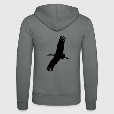 stork - Unisex Hooded Jacket by Bella + Canvas
