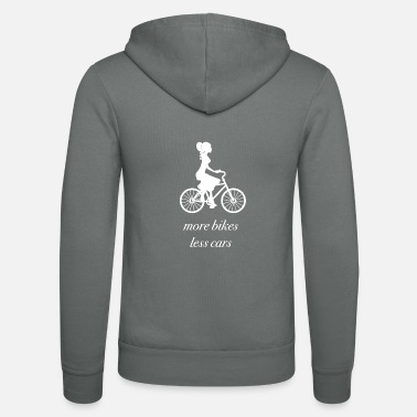 more bikes, less cars - Unisex Kapuzenjacke