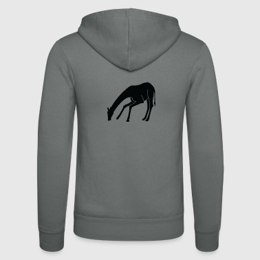 A Giraffe Eating - Unisex Hooded Jacket by Bella + Canvas
