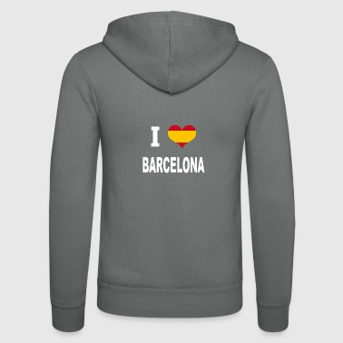 I Love Spain BARCELONA - Unisex Kapuzenjacke von Bella + Canvas