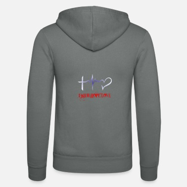 Hope Faith Hope Love Faith Hope Love against Corona - Unisex Zip Hoodie