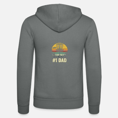 Golf # 1 Dad Disc Golf Shirt - Number One Dad Frisbee Go - Chaqueta con capucha unisex
