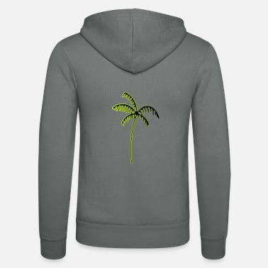 Plain Palm tree - Unisex Zip Hoodie