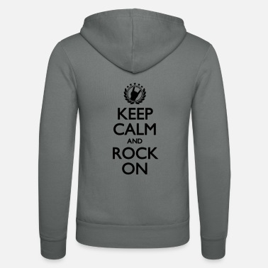 Keep Calm And Rock On Keep Calm And Rock ON - Unisex Kapuzenjacke